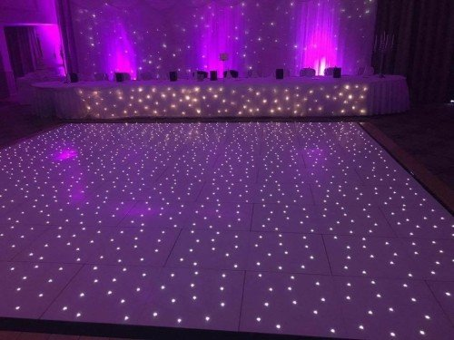 Dancefloor and backdrop