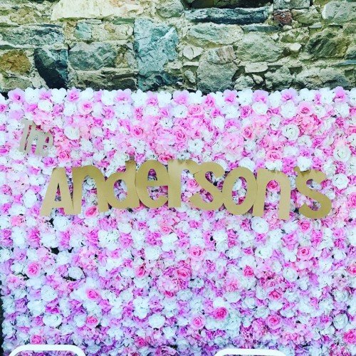 Personalised Flowerwall , any colour writing available