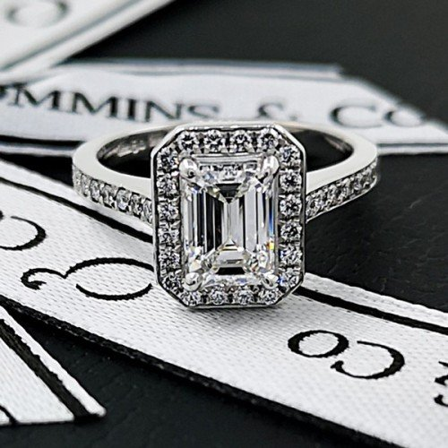 diamond halo engagement ring commins & co jewellers
