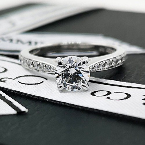 diamond melee engagement ring commins & co jewellers