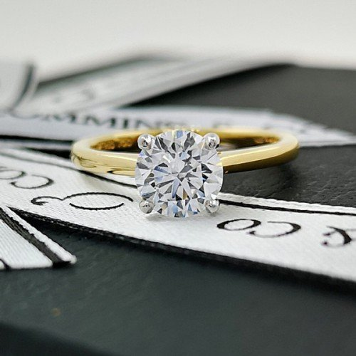 diamond solitaire engagement ring commins & co jewellers