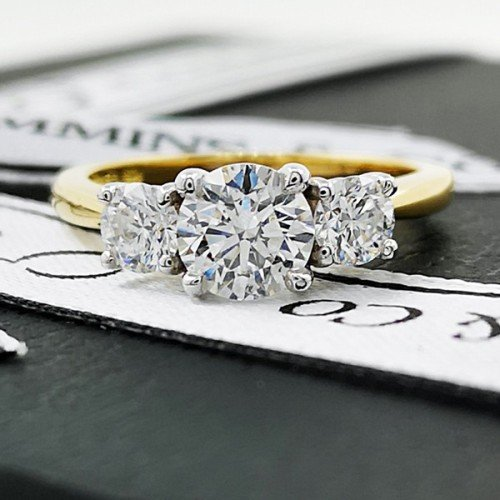 diamond trilogy engagement ring commins & co jewellers
