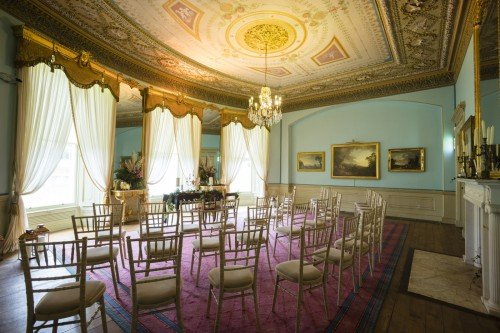 The drawing room will accommodate from 20 to 80 wedding guests