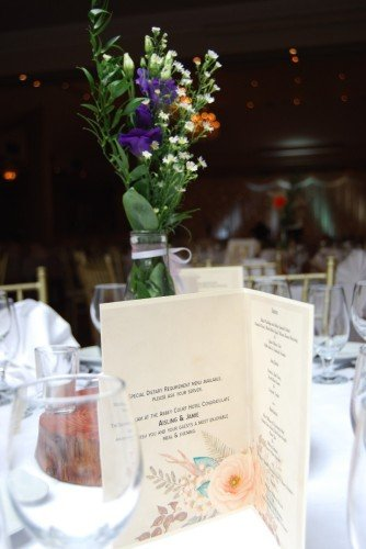 Centre Piece & Menu/ Hotel Wedding Venues | Great National Abbey Court Hotel