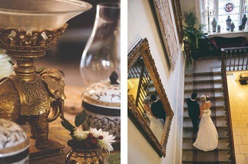 durrow indoors, indoor staircase wedding photos Durrow Castle