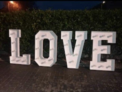 4ft tall light up love letters
