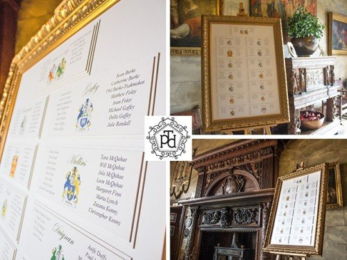 Family Crest Table Plan Theme