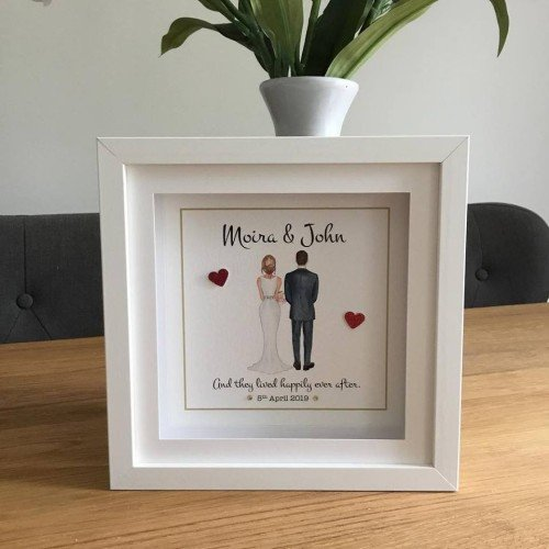 Gifts - Cute as a Button Personalised Frames