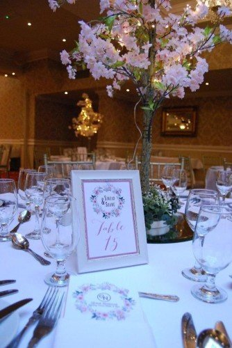 Table Numbers/ Hotel Wedding Venues | Great National Abbey Court Hotel