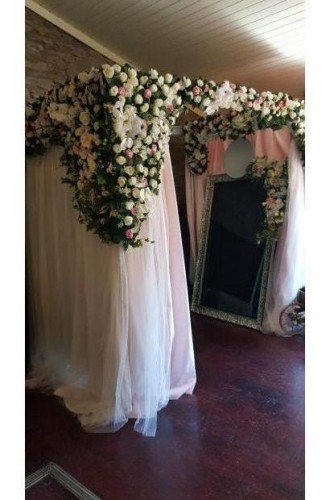 Selfie Mirror with floral enclosure