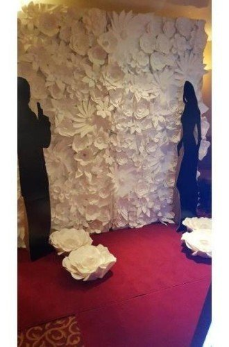 Japanese White Paper Photo Wall