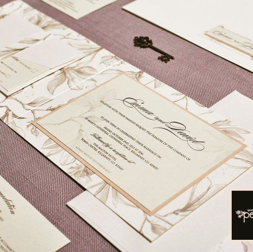 floral neutral invitation