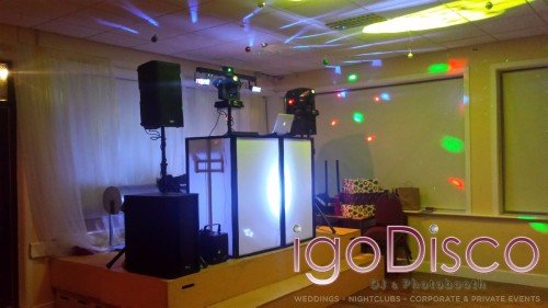 igoDisco.ie equipment setup for Mayo University Hospital,Castlebar Staff Christmas Party