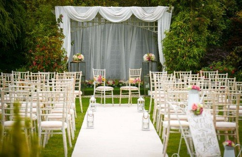 Civil Ceremony in Garden by Gazebo - Clanard Court Hotel