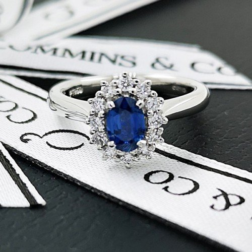 diamond gemstone engagement ring commins & co jewellers