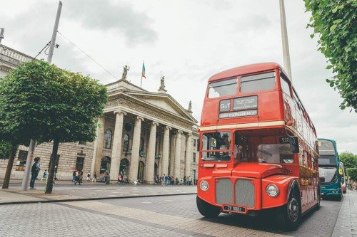 Gin bus in the heart of Dublin