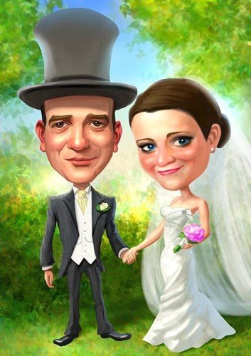 Hey, another top hat! Caricatures by Mark Heng- Drawing Smiles since 1990!
