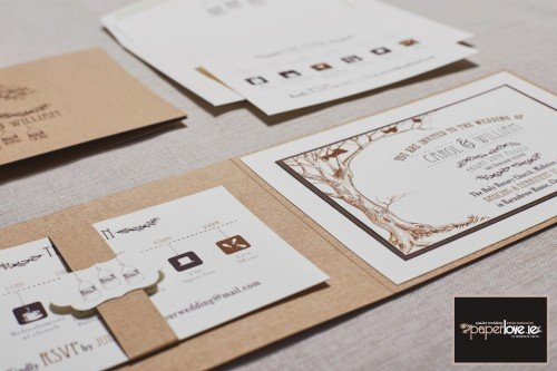 Rustic, wood effect invitation