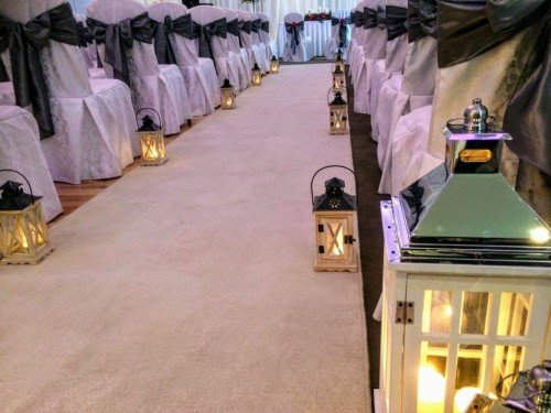 Aisle Carpet + Chair Covers - Audrey's Wedding Occasions