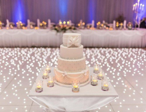 White Lighted Dance floor - Audrey's Wedding Occasions