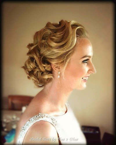 vintage waved bridal upstyle