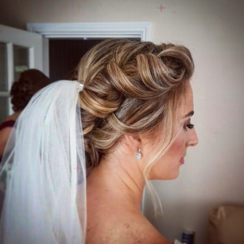 bridal hair braids