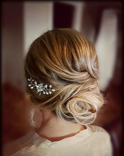 bridal hair bun
