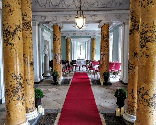An option for a smaller Civil Wedding is the 20 to 30 seat Grand Hallway. Gorgeous for a summer wedding