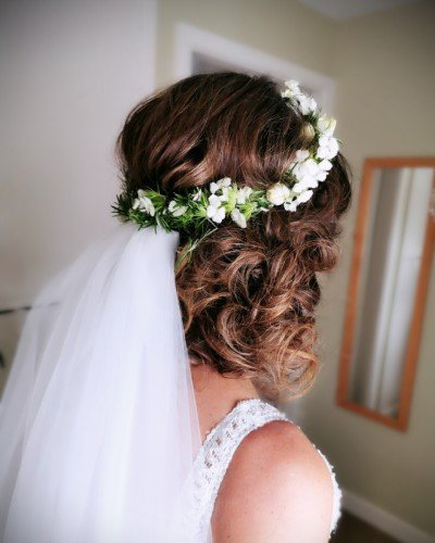 boho bridal hair messy