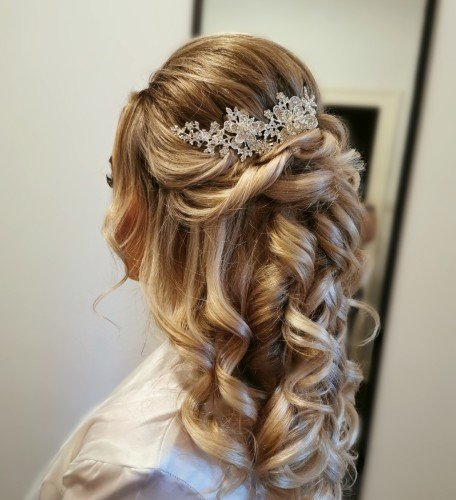 romantic curls bridal hair