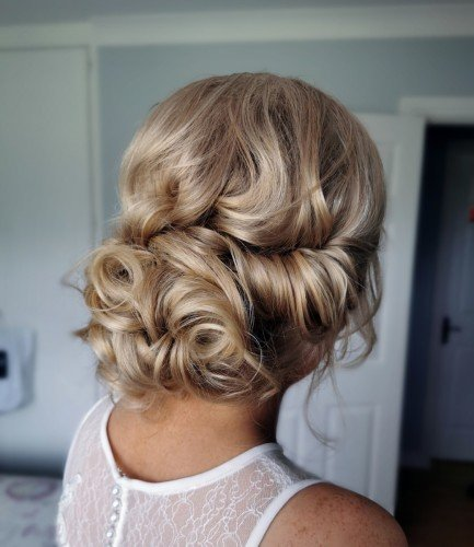 soft curls bridal upstyle