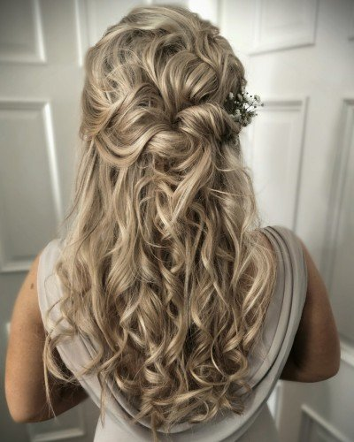 casual Bridesmaid hair style long