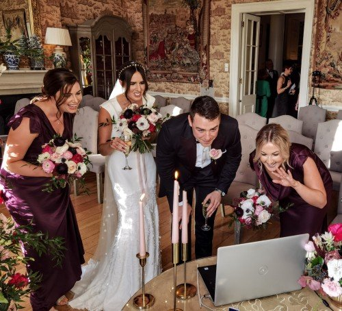Friends dont need to miss out Zoom for your Wedding