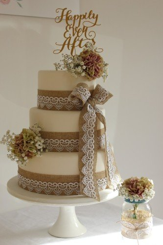 Wedding Cakes Sligo - www.cakerise.ie  Rustic 3 Tier Wedding Cake