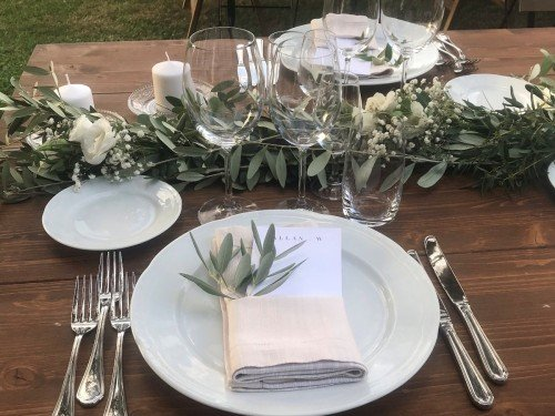 Tuscany wedding table detail