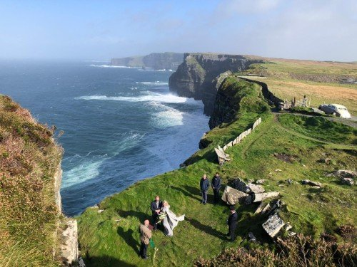 Intimate Cliffs of Moher Wedding
