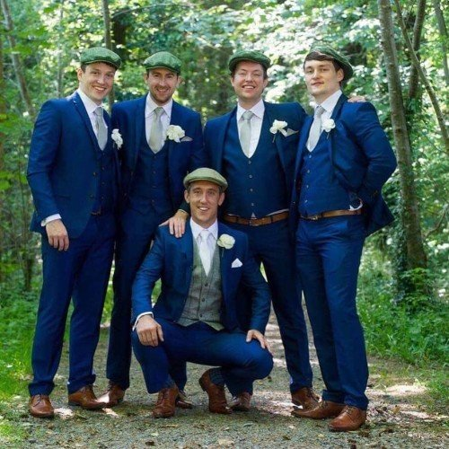 John Conlon & his strong crew of groomsmen