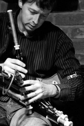 John on the Uilleann Pipes