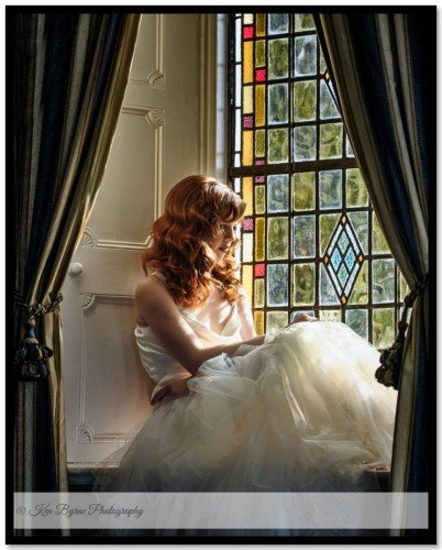 High Fashion styled Bridal Portrait Bloomfield House Hotel, Belvedere, Mullingar, Co. Westmeath
