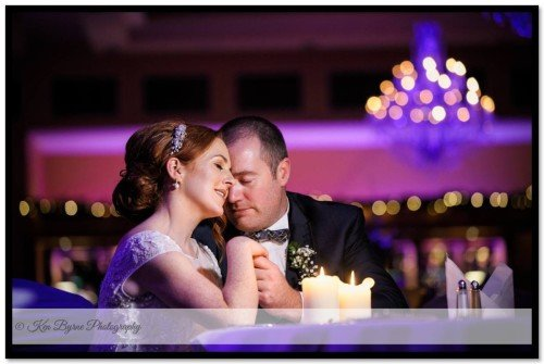 Intimate wedding photography by candlelight of the bride and groom the Mullingar park Hotel Mulliingar Co. Westmeath