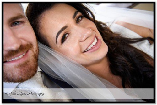 Close up portrait of the bride and groom on the wedding day. New Forest Golf Club Apartments, New Forest Golf Club, Higginstown, Tyrrellspass