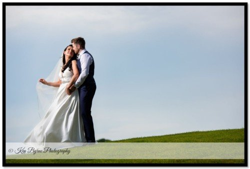 Stylised wedding photography of the bride and groom on the wedding day. New Forest Golf Club Apartments, New Forest Golf Club, Higginstown, Tyrrellspass