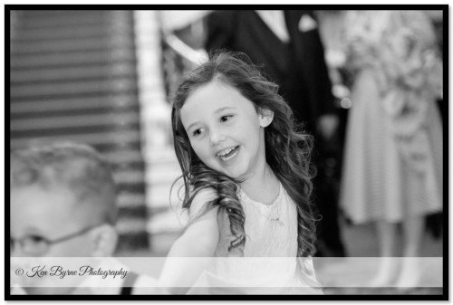 Natural and fun candid wedding photography of children at The Bridge house Hotel Tullamore Co Offaly