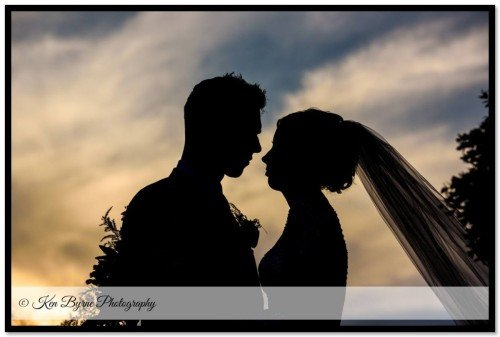 Dramatic silhouette photography of the Bride and groom Bloomfield House Hotel, Belvedere, Mullingar, Co. Westmeath