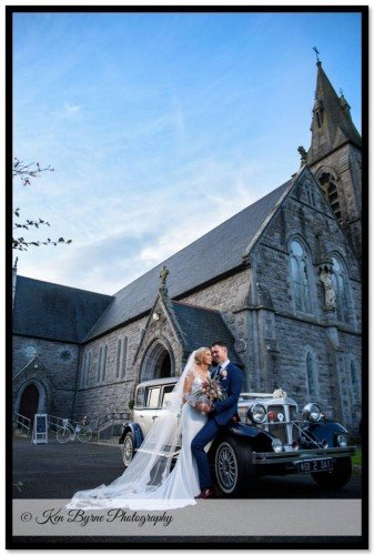 Wedding photography of the Bride and Groom alone at Castletown Geoghegan, Castletown, Co. Westmeath