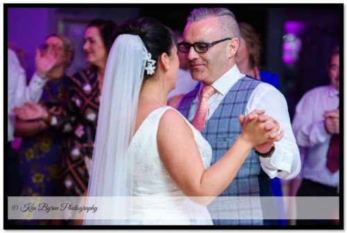 The first dance between bride and groom The Bridge House Hotel and Leisure Club, The Bridge House Hotel Tullamore, Tullamore, Co. Offaly