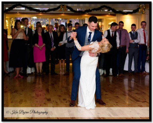 Natural wedding photography of the bride and grooms first dance Bloomfield House Hotel, Belvedere, Mullingar, Co. Westmeath