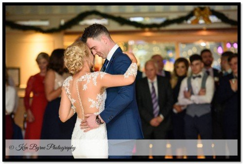 Reportage wedding photography of the bride and grooms first dance Bloomfield House Hotel, Belvedere, Mullingar, Co. Westmeath