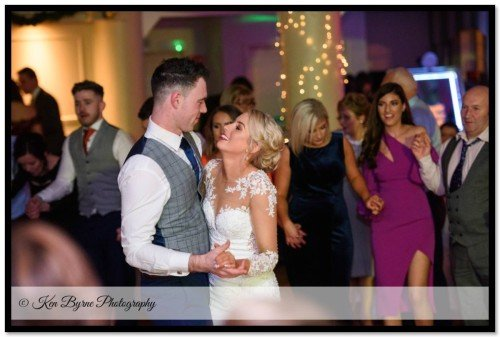The bride and grooms first dance Bloomfield House Hotel, Belvedere, Mullingar, Co. Westmeath