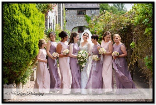 Classy wedding photography of the Bride's and bridesmaids Cabra Castle Hotel, Carrickmacross Rd, Cormey, Kingscourt, Co. Cavan, A82 EC64